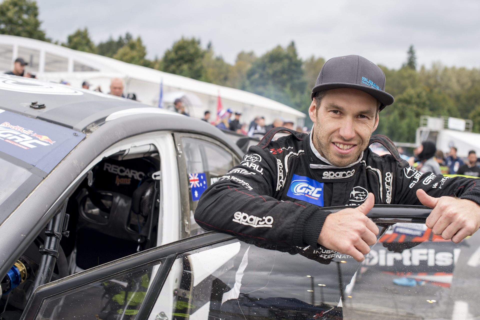 Chris Atkinson made his second GRC start in Seattle © Fuji Heavy Industries, Ltd.