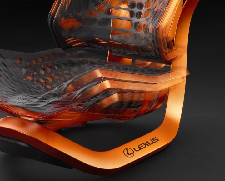 Lexus Kinetic Seat Concept World Premiere at the 2016 Paris Motor Show