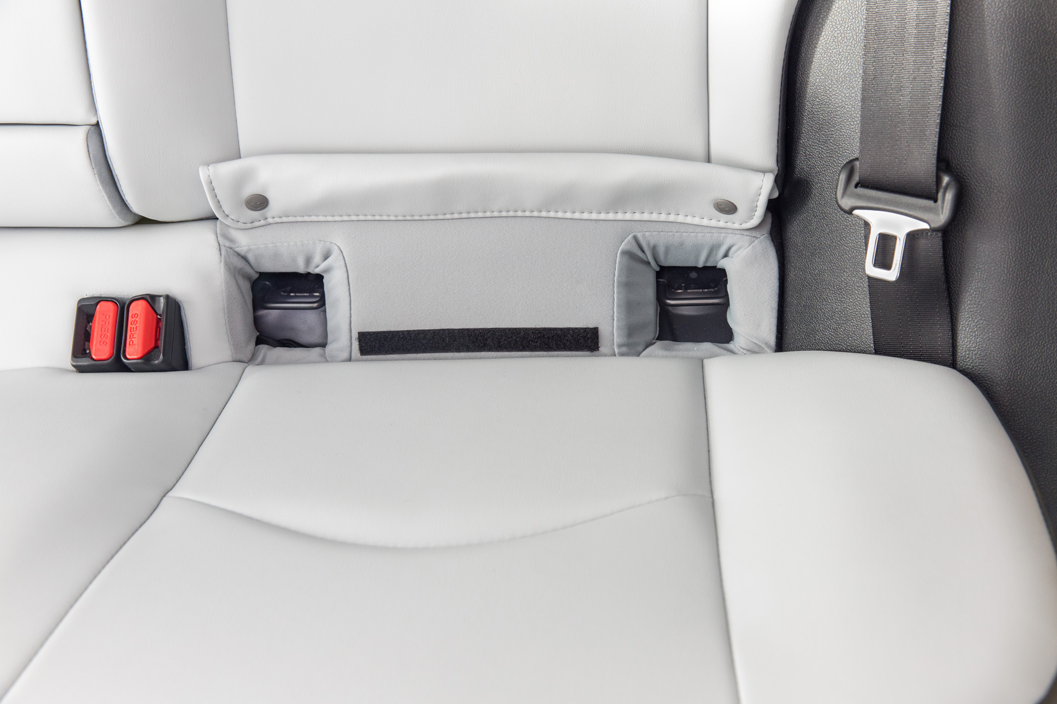 Toyota Engineers Easier Access for Child Safety Seat Mounts © Toyota Motor Corporation