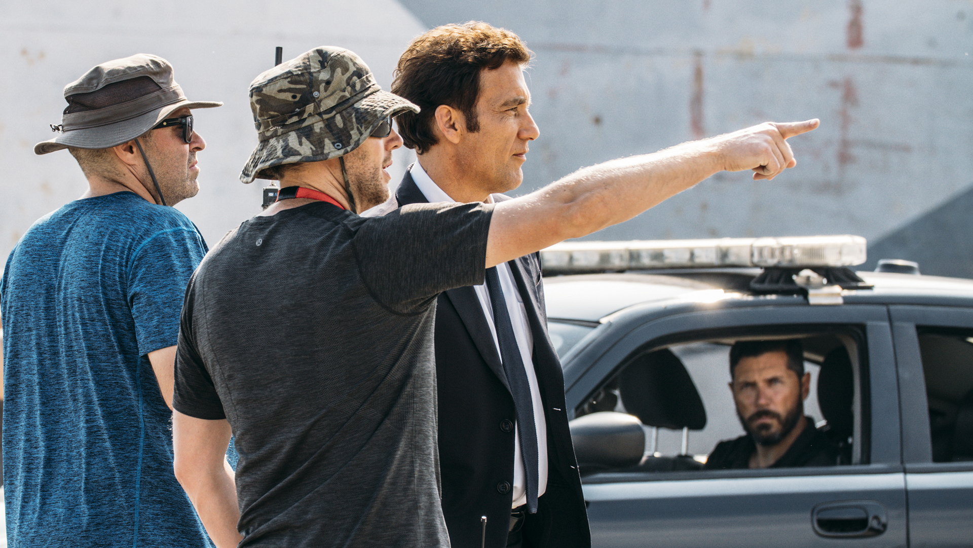 "Clive Owen and Neill Blomkamp on set of BMW Films' newest release, ""The Escape,"" an homage on the 15th Anniversary of BMW Films © BMW AG"