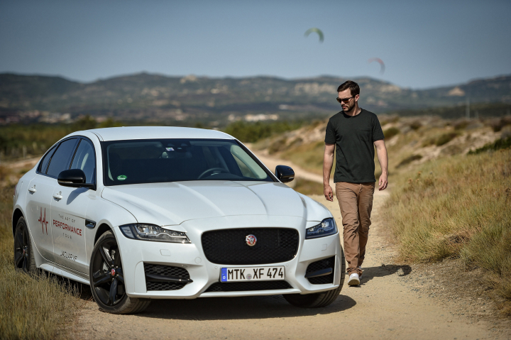 Nicholas Hoult Takes on Unique Driving Challenge in New Jaguar XF