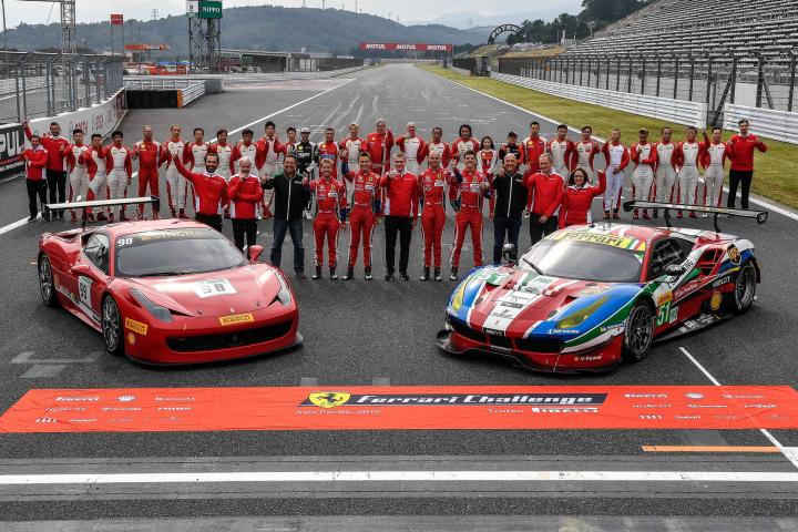 Challenge APAC: Thirty Ferrari Drivers on Track at Fuji