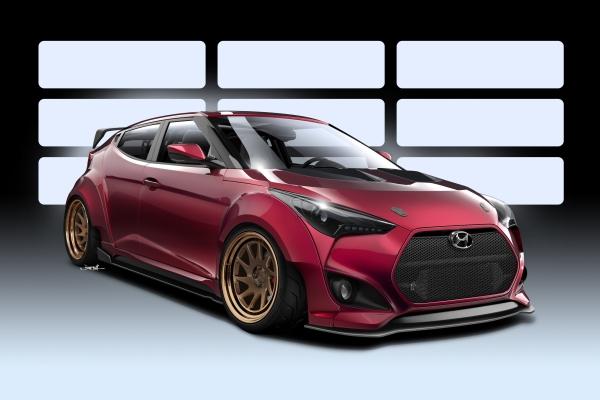 Hyundai and Gurnade Inc. Link Up to Create Race-Ready Veloster Concept for 2016 Sema Show © Hyundai Motor Company