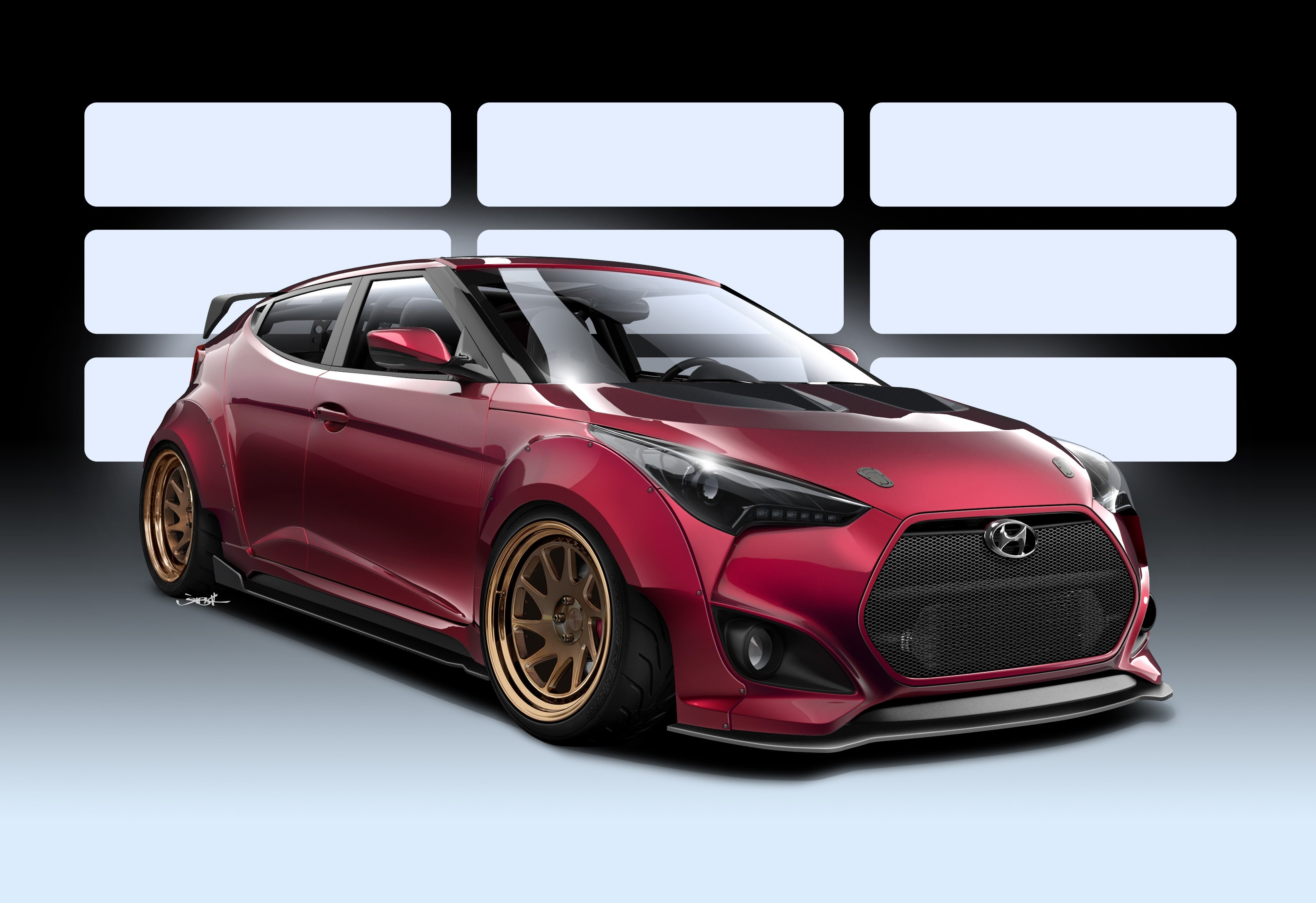 Hyundai and Gurnade Inc. Link Up to Create Race-Ready Veloster Concept for 2016 Sema Show © Hyundai Motor Company