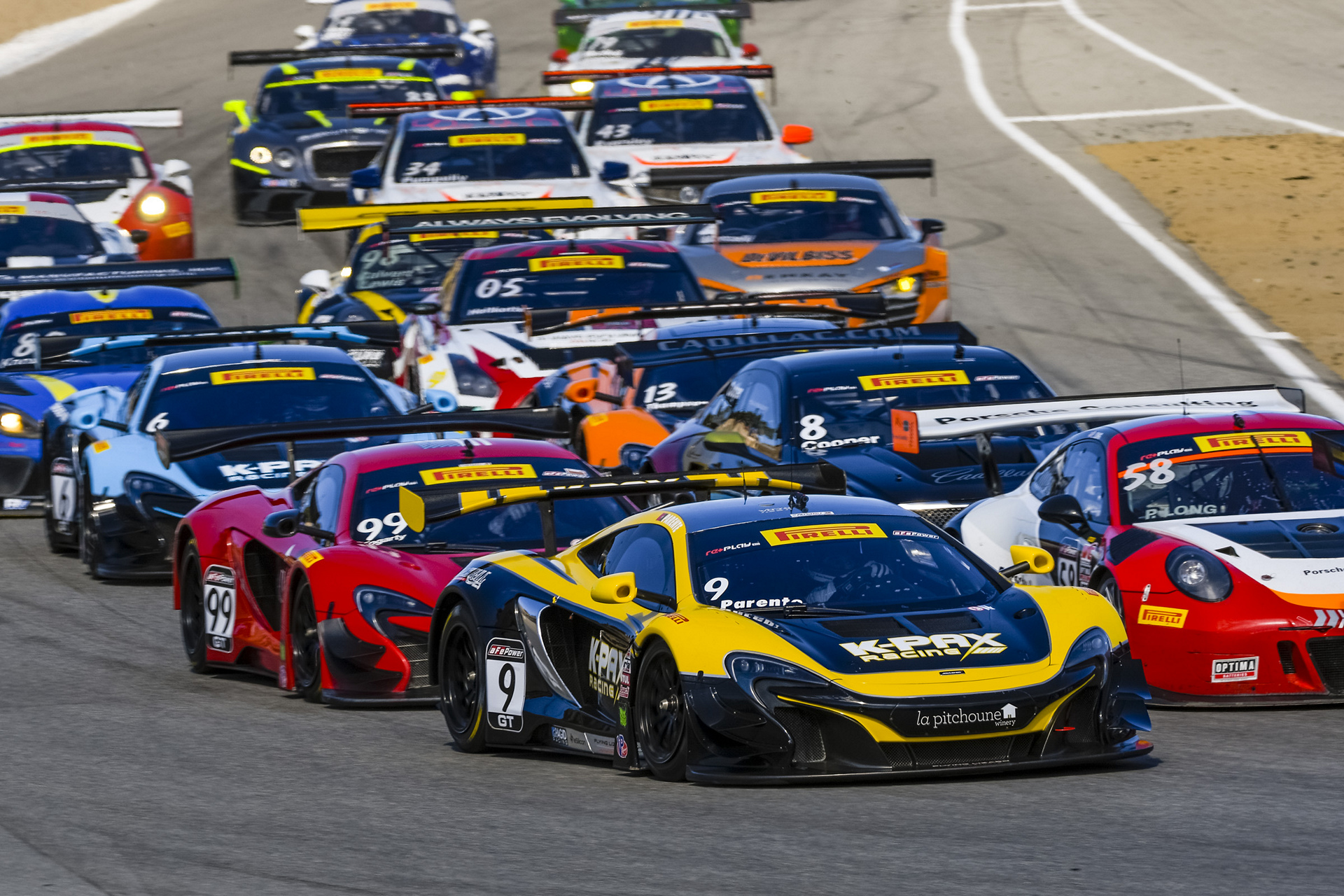 McLaren 650S GT3 secures triple honours during dramatic Pirelli world challenge title decider at Laguna Seca © McLaren Automotive