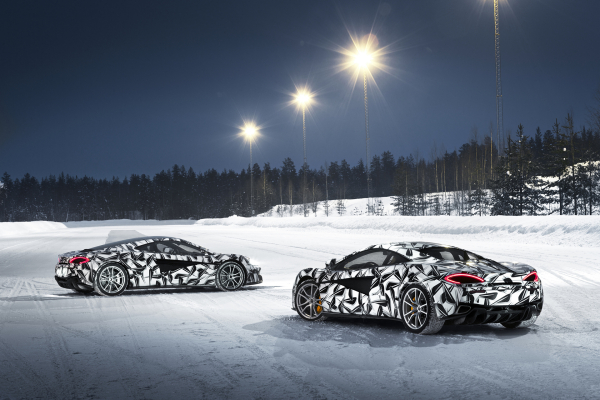 Pure McLaren launches its inaugural ice driving experience © McLaren Automotive