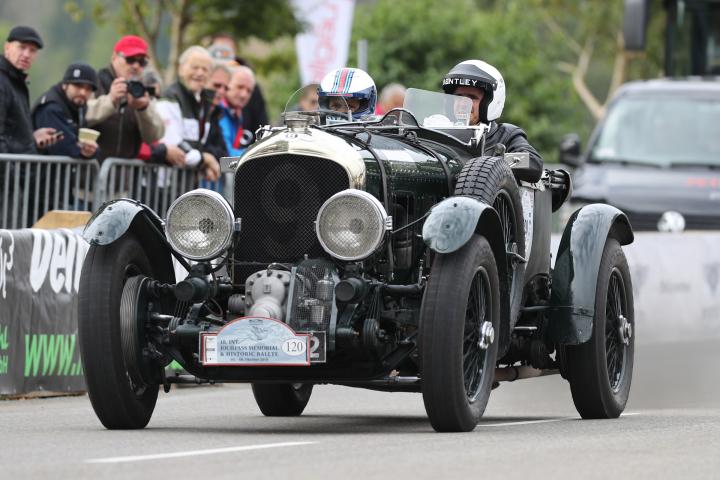 Bentley at the Jochpass Memorial and Historic-Rallye
