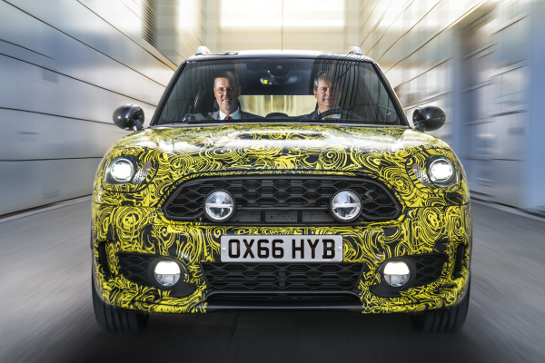 Head of MINI Brand Management Sebastian Mackensen and Head of MINI Series Management Peter Wolf preview the first plug-in hybrid model by the British Premium Brand © BMW AG