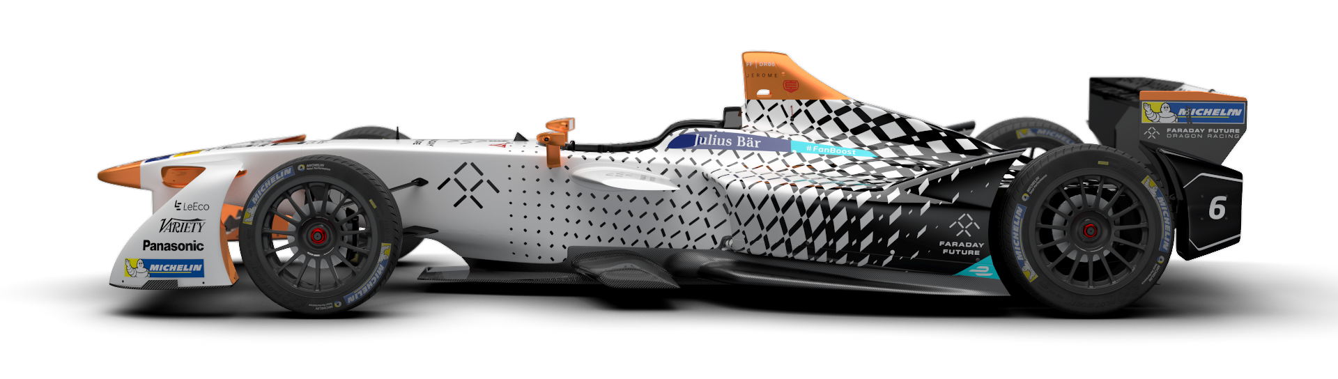 Faraday Future Dragon Racing Reveals Formula E Season Three Livery © Faraday Future